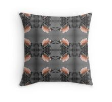 Apricot Rose Pattern Throw Pillow