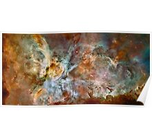 Hubble Space Telescope Print 0023 - The Carina Nebula - hs-2007-16-a-full_jpg Poster