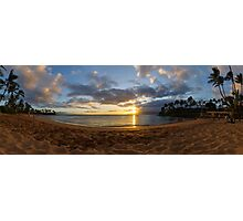 Napili Bay Sunset Panorama Photographic Print