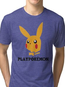 Playboy-Pokemon Tri-blend T-Shirt