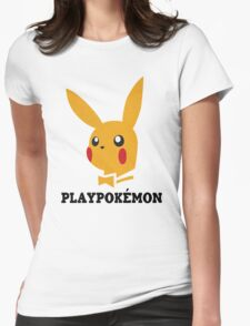 Playboy-Pokemon Womens Fitted T-Shirt