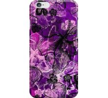 Wahine Lace Hawaiian Orchid Illustration - Pink, Violet and Black iPhone Case/Skin