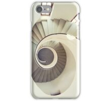 Spiral staircase in pastel tones iPhone Case/Skin