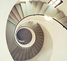 Spiral staircase in pastel tones by JBlaminsky