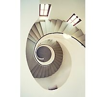 Spiral staircase in pastel tones Photographic Print
