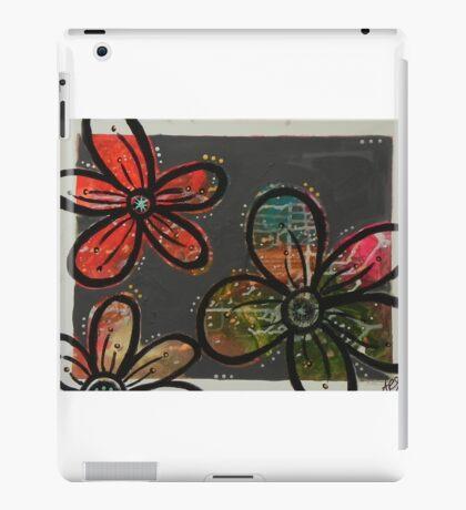 Gray Blossoms iPad Case/Skin