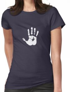 White Hand of Saruman Womens Fitted T-Shirt