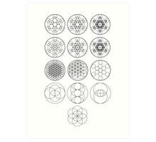13 Circles   Sacred Geometry Art Print