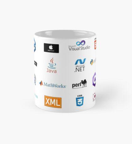 programming languages logos lenguajes programacion Mug