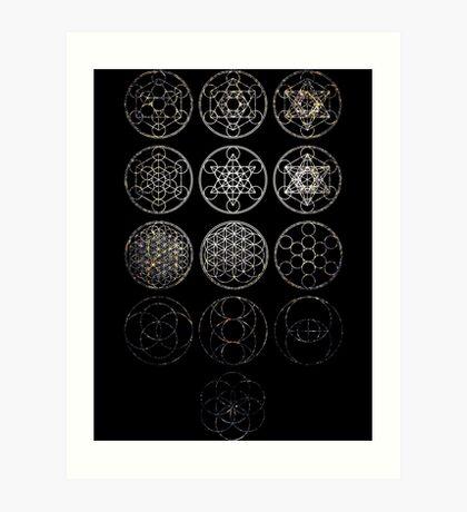13 Circles [Tight Cluster Galaxy] | Sacred Geometry Art Print