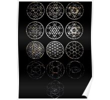 13 Circles [Tight Cluster Galaxy] | Sacred Geometry Poster