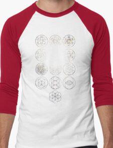 13 Circles [Tight Cluster Galaxy] | Sacred Geometry Men's Baseball ¾ T-Shirt