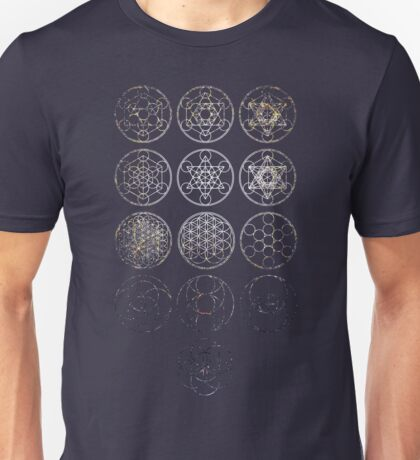 13 Circles [Tight Cluster Galaxy] | Sacred Geometry T-Shirt