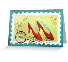 NY  Dance Stamp Greeting Card