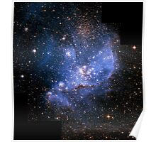 Hubble Space Telescope Print 0030 - Infant Stars in the Small Magellanic Cloud - hs-2005-04-a-full_jpg Poster
