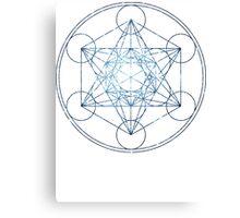 Metatron's Cube [The Blue Stars]   Sacred Geometry Canvas Print