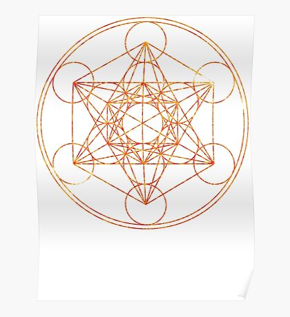 Metatron's Cube [The Red Moon] | Sacred Geometry Poster