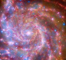 Hubble Space Telescope Print 0020 - Spitzer-Hubble-Chandra Composite of M101  - hs-2009-07-b-full_jpg Sticker