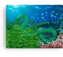 Green Sea Dragon Canvas Print