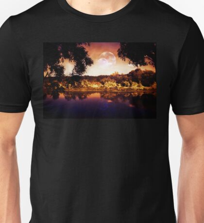 Night Forest and River 3 Unisex T-Shirt