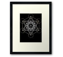 Metatron's Cube [Tight Cluster Galaxy] | Sacred Geometry Framed Print