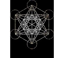 Metatron's Cube [Tight Cluster Galaxy] | Sacred Geometry Photographic Print
