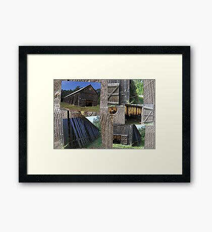 Old Connecticut Tobacco Barn Framed Print