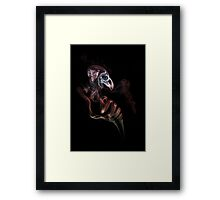 Smoke bird skull Framed Print