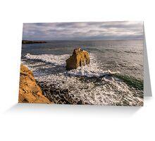 Bird Rock at Sunset Greeting Card