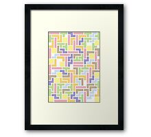 Back To The Old Us (Tetris) Framed Print