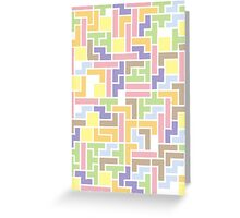 Back To The Old Us (Tetris) Greeting Card