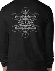 Metatron's Cube + Star of David | Sacred Geometry Long Sleeve T-Shirt