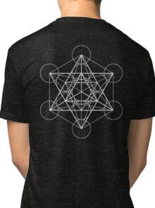 Metatron's Cube + Star of David | Sacred Geometry Tri-blend T-Shirt