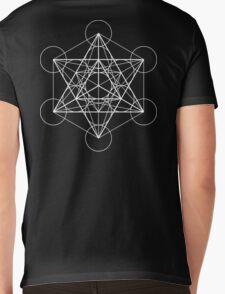 Metatron's Cube + Star of David | Sacred Geometry Mens V-Neck T-Shirt