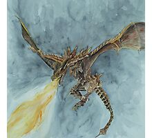 Elder Dragon Watercolor and Ink Painting Photographic Print