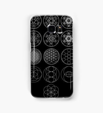 13 Circles [White] | Sacred Geometry Samsung Galaxy Case/Skin