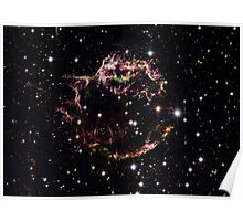 Hubble Space Telescope Print 0008 - Supernova Remnant Cassiopeia A - March 2004  - hs-2006-30-b-full_jpg Poster