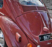 Volkswagen type 1 in Coral Peach Sticker