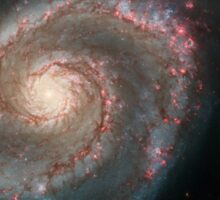 Hubble Space Telescope Print 0005 - Out of This Whirl - the Whirlpool Galaxy (M51) and Companion Galaxy - hs-2005-12-a-full_jpg Sticker