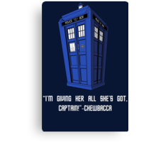 Doctor Who Misquote Canvas Print