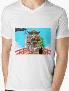 Spirited Away Drawing Mens V-Neck T-Shirt