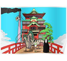 Spirited Away Drawing Poster