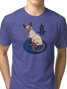 Siamese Chinese Cat Tri-blend T-Shirt