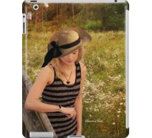 Summer Reverie ~ Alone in a Meadow iPad Case/Skin