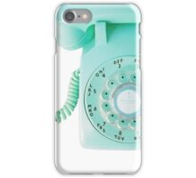 call me (blue) iPhone Case/Skin