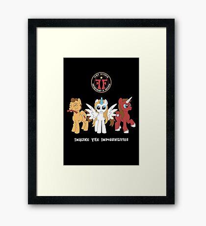 My Little Fringe Pony Framed Print
