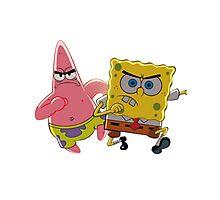 patrick and spongebob Photographic Print