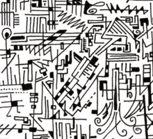 Abstract Composition #1 black lines Sticker