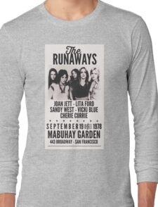 The Runaways Vintage Poster Long Sleeve T-Shirt