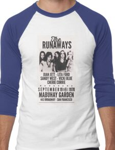 The Runaways Vintage Poster Men's Baseball ¾ T-Shirt